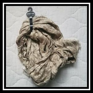 Accessories - NWT Light Taupe Infinity Scarf With Fringe